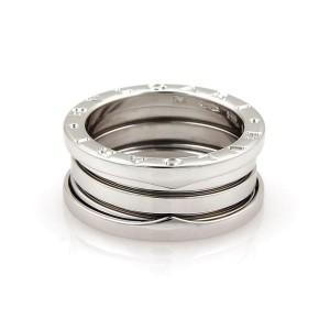Bvlgari Bulgari B Zero-1 18k White Gold 9mm Band Ring Size 54-US 6.75