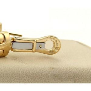 Bulgari Bvlgari Alveare 18k Yellow Gold 10mm Wide Semi Hoop Earrings