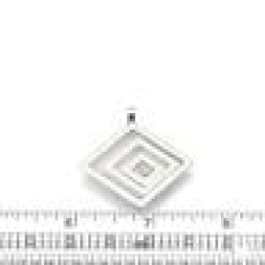 Chopard Happy Spirit Diamond 18k White Gold Triple Square Maze Pendant