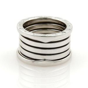 Bvlgari Bulgari B Zero-1 18k White Gold 13mm Band Ring Size EU 49-US 4.5