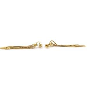 Carla Amorim 18k Yellow Gold Multi-Chain Spike Design Long Dangle Earrings