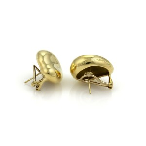 Tiffany & Co. Peretti 18k Yellow Gold Extra Large Bean Post Clip Earrings