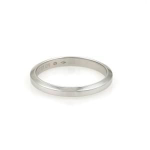 Cartier Platinum Flat Edge 2.5mm Plain Wedding Band Size EU 61-US 9.5 Cert.