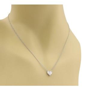 Tiffany & Co. Diamonds Platinum Heart Pendant & Chain Necklace