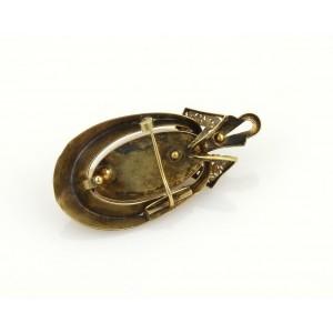 Victorian Era 18k YGold Pearls & Turquoise Bracelet Earrings & Brooch Set w/Box
