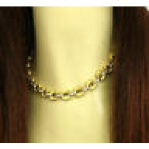Estate 2.40ct Diamond Hefty Floral Chain Link Necklace in 18k Two Tone Gold
