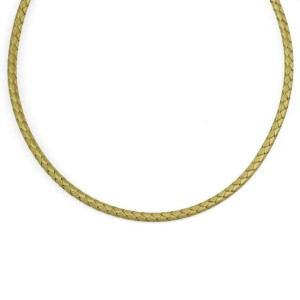 Roberto Coin Silk 18k Yellow Gold 4mm Basket Weave Flex Choker Necklace