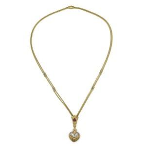 Seidengang 3.50ct Diamond & Gems 18k Gold Heart Pendant Necklace