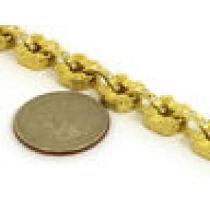 Estate 1.20ct Diamonds Engraved Floral Link Bracelet in 18k Yellow Gold