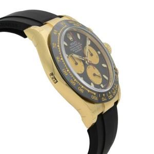 Rolex Daytona Cosmograph Oysterflex 18k Gold Automatic Mens Watch 116518BKCSR