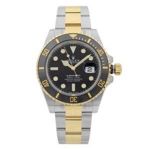 Rolex Submariner 41MM Date Gold Steel Black Dial Mens Watch 126613LN