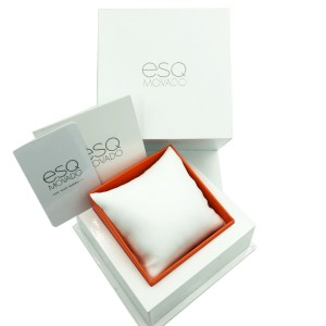 ESQ Movado Bali Steel White Ceramic MOP Dial Quartz Ladies Watch 07101264