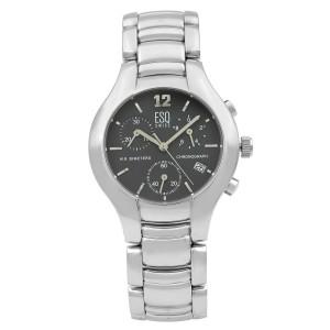 ESQ by Movado Previa Steel Chronograph Grey Dial Quartz Mens  Watch 7300760