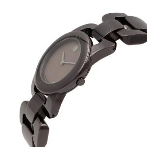 Movado Luma 0606573 Stainless Steel PVD Coated Quartz Ladies Watch