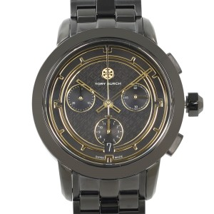 Tory Burch Black Ion Plated Steel Ladies Quartz Watch TRB1025