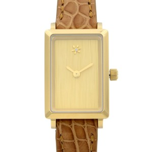 Gomelsky Shirley Fromer Steel Leather Beige Diamond Dial Quart Watch G0120023478
