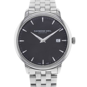 Raymond Weil Toccata Black Dial Stainless Steel Quartz Mens Watch 5488-ST-20001