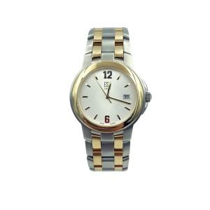 ESQ Swiss Steel Two Tone Silver Sunray Dial Quartz Mens Dress Watch 07300747