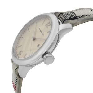 Burberry The Classic Round Steel Silver Guilloche Quartz Ladies Watch BU10113