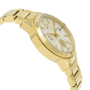 Tory Burch Collins Gold Tone Steel Cream Dial Ladies Quartz Watch TB1250