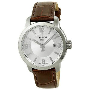 Tissot PRC 200 Stainless Steel Silver Dial Quartz Mens Watch T055.410.16.037.00