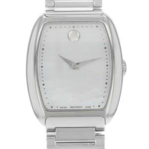 Movado Concerto White Mother Pearl Dial Steel Quartz Ladies Watch 0606547
