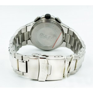 Buler Adventure Stainless Steel Swiss Made Quartz Ladies Watch 36123