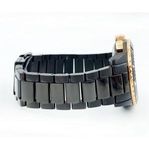 Buler Sea Quest Chronograph Black Stainless Steel Bracelet 37141