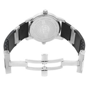 Ritmo Mundo Black Forum Divina Dual Time Steel Rubber Swiss Quartz Watch 121