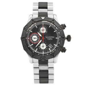 Valentino Steel Rubber Black Dial Automatic Mens Watch V40LCA9R909-S09R