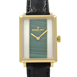 Gomelsky Shirley Fromer Gold Tone Two Color Dial Quartz Womens Watch G0120083079