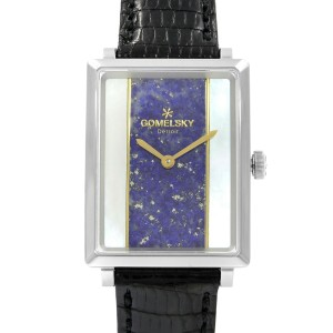 Gomelsky Shirley Fromer Steel MOP & Blue Dial Quartz Ladies Watch G0120083080
