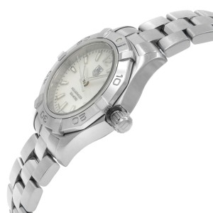 TAG Heuer Aquaracer MOP Dial Sticks Steel Quartz Ladies Watch WAF1414.BA0823