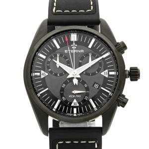 Eterna Kontiki Chronograph Black PVD Steel Quartz Mens Watch 1250.43.41.1308
