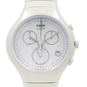 Rado True Jubile Chronograph White Quartz Mens Watch R27832702