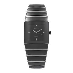 Rado Sintra Jubile Ceramic Black Dial Square Quartz Mens Watch R13335732