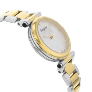 Ferragamo Idillio Ion Plated Mother of Pearl Dial Steel Ladies Watch