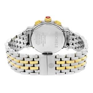 Michele Fluette White Dial Two Tone Steel 0.36cttw Ladies Watch MWW24A000007