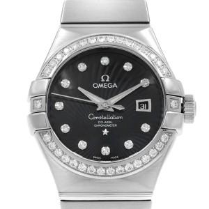 Omega Constellation 18K White Gold Black Dial Ladies Watch 123.55.31.20.51.001