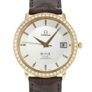 Omega DeVille Prestige 18K Rose Gold Automatic Mens Watch 413.58.37.20.52.001