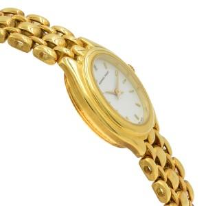 Audemars Piguet 19mm Oval White Dial 18K Yellow Gold Hand Wind Ladies Watch