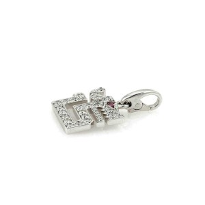 Cartier Diamond Le Baiser Du Dragon 18k White Gold Charm w/Paper