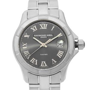 Raymond Weil Parsifal Gray Roman Dual Steel Automatic Mens Watch 2970-ST-00608