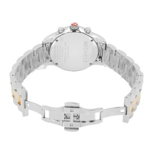 Michele Jetway MOP Dial Diamond Two Tone Steel Quartz Ladies Watch MWW17A000017