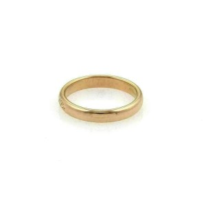 Tiffany & Co. Notes 18k Rose Gold 3mm Wide Dome Band Ring