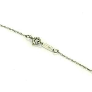 Tiffany & Co. Diamond Platinum Small Cross Pendant Necklace