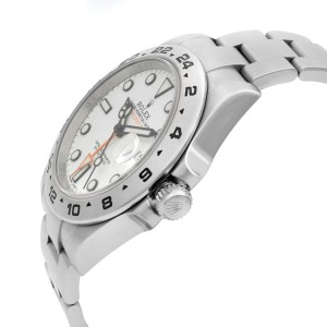 Rolex Exporer II GMT Stainless Steel White Dial Automatic Mens Watch 216570