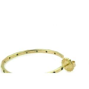 Ippolita Glamazon Stardust Blue Sapphire 18k Yellow Gold Hoop Earrings Rt $3,495