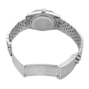 Rolex Datejust Steel 1 Cttw Custom Diamond Blue MOP Dial Mens 1978 Watch 16014