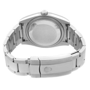 Rolex Datejust 36mm Steel 18K White Gold Silver Diamond Dial Watch 116234